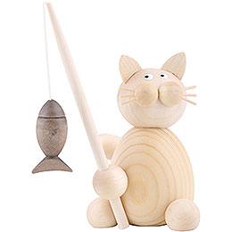 Katze Moritz mit Fisch  -  8cm