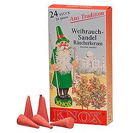 Knox Räucherkerzen  -  Sandel