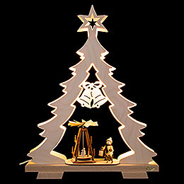 Light Triangle  -  Fir Tree Advent Idyll, LED  -  32x43x7,5cm / 12.6x17x3 inch