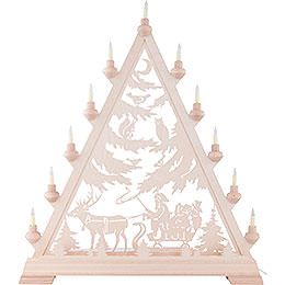 Light triangle St. Nick with sleigh  -  66cm / 26inch
