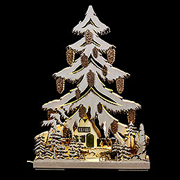 Light triangle manger with deer  -  32x44cm / 12.6x17.3inch