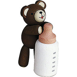 Lucky bear with bottle  -  3,5cm / 1.4inch