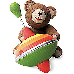 Lucky bear with humming top  -  3cm / 1.2inch