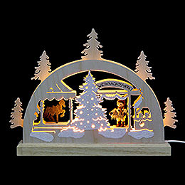 Mini LED Lightarch  -  Christmas Fair  -  23x15x4,5cm / 9x6x2 inches