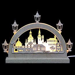 Mini LED Lightarch  -  Dresden  -  23x15x4,5cm / 9x6x2 inch