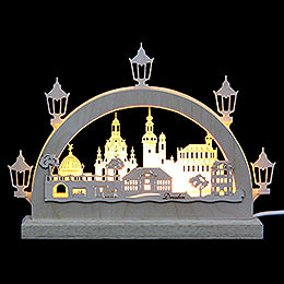 Mini - LED - Schwibbogen Dresden  -  23x15x4,5cm