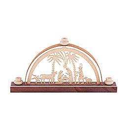 Miniatur Schwibbogen Christi Geburt  -  17,5cm x 8,8cm