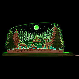 "Motive Light ""Forest Idyll""  -  47x22cm / 18.5x8.7 inch"