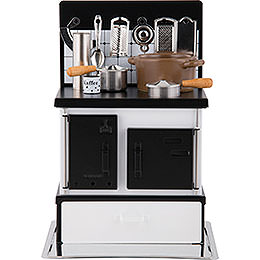 Multi - function stove white - black  -  21cm / 8.3inch