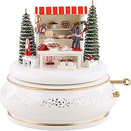 "Music box ""Christmas market""  -  15cm / 5.9inch"
