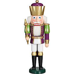 Nussknacker Exklusiv König purpur - weiß  -  40cm