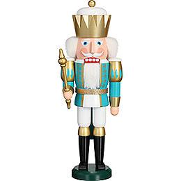 Nussknacker Exklusiv König türkis - weiß  -  40cm