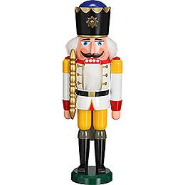 Nussknacker König weiß  -  38cm