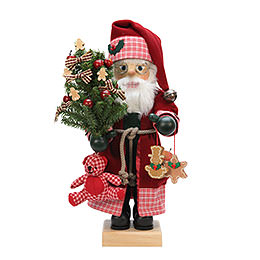 Nussknacker Weihnachtsmann Landhaus rot  -  47cm