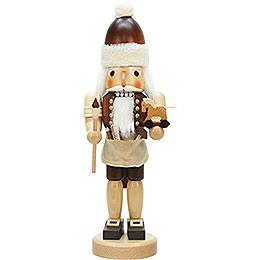 Nussknacker Weihnachtsmann mit Spielzeug natur  -  42,0cm