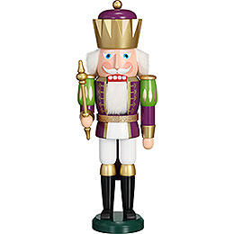 Nutcracker  -  Exclusive King Purple - White  -  40cm / 15.7 inch