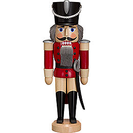 Nutcracker Hussar  -  Ash  -   red  -  28cm / 11 inch