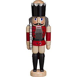 Nutcracker  -  King  -  Ash  -   Red  -  29cm / 11 inch