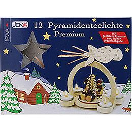 Pyramiden - Teelichter Premium, 12 Stück