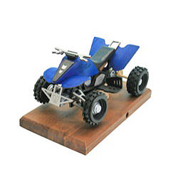 R�ucher - Quad in blau 22 x 13 x13cm