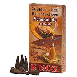 R�ucherkerzen  -  Schokolade