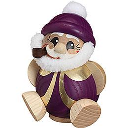 R�ucherm�nnchen Nikolaus purpur - gold  -  11cm