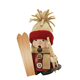Räuchermännchen Skifahrer  -  11cm