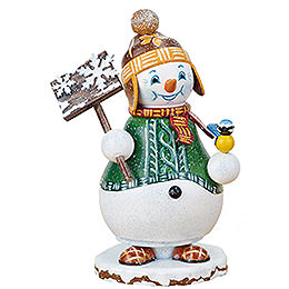 Räuchermännchen Wichtel Schneemann Schneegestöber  -  14cm