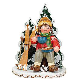 Räuchermänner Winterkind Schneeschuhfahrerin  -  20cm