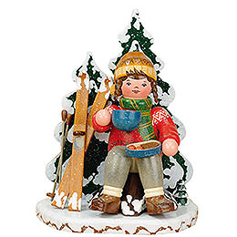 R�ucherm�nner Winterkind Schneeschuhfahrerin  -  20cm