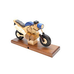 Räuchermotorrad Touring Blau 27 x 18 x 8cm