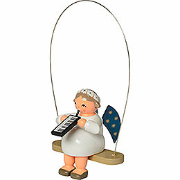 Rocking angel with melodica  -  8cm / 3.1inch