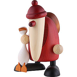 Santa Claus with Auguste, the goose  -  19cm / 7.5inch