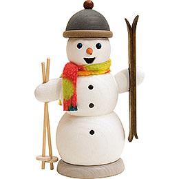 Schneemann mit Skiern  -  13cm