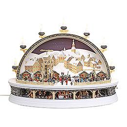 Schwibbogen Silbernes Schneeberg (limitierte Auflage)  -  74x58x34cm