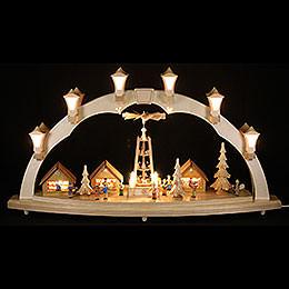 Schwibbogen Weihnachtsmarkt  -  80 x 43cm