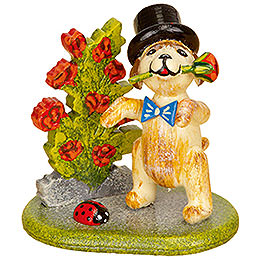 Set of three -  Little rose gentleman  -  4cm / 1,5inch