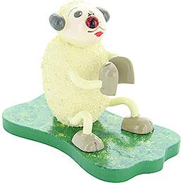 "Sheep ""Klatschi"", with Bug  -  5cm / 2 inch"