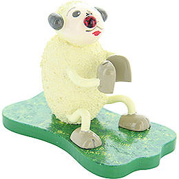"Sheep ""Klatschi"", with bug  -  5cm / 2inch"
