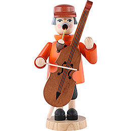 Smoker Bass Violin player  -  7 inch  -  19cm