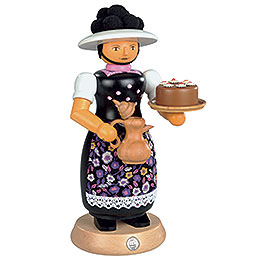 Smoker Black Forest Lady with smoking pot  -  25cm / 10 inch