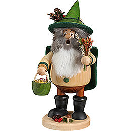 Smoker Forest Gnome Herb Gatherer green  -  25cm / 10inch