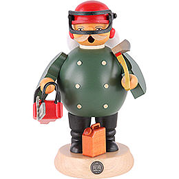 Smoker Forest Worker with saw  -  18cm / 7 inches