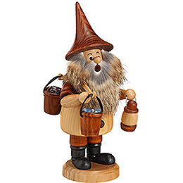 Smoker  -  Mountain Gnome with Bucket  -  18cm / 7 inch