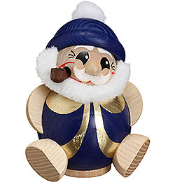 Smoker Santa Claus blue - gold  -  11cm / 4.3inch
