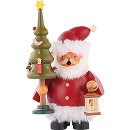 Smoker Santa Claus with tree  -  14cm / 5.5 inches