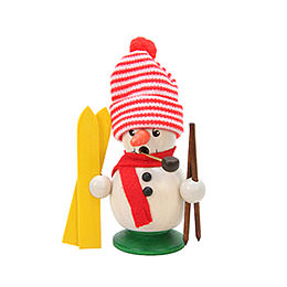 Smoker Snowboy with Ski  -  10,5cm / 4 inches