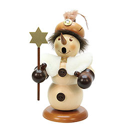 Smoker Snowman Balthasar natural colors  -  21,5cm / 8 inch