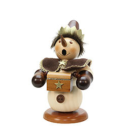 Smoker Snowman Melchior natural colors  -  23cm / 9 inch