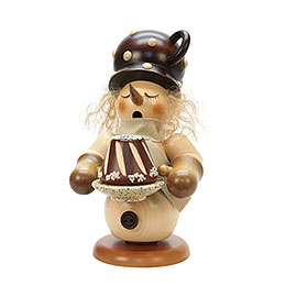 Smoker Snowman with cake  -  24cm / 9 inch